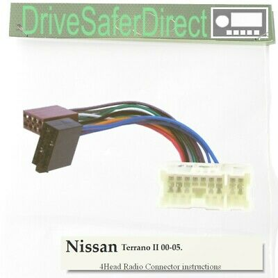 4-Head-5221-31 Radio Cable for Clarion ISO/Nissan Terrano II 00-05