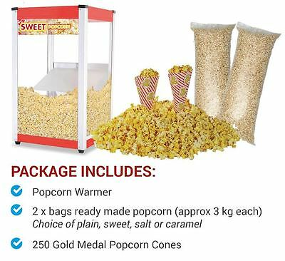 2 Bags of Ready made popcorn + Popcorn Warmer