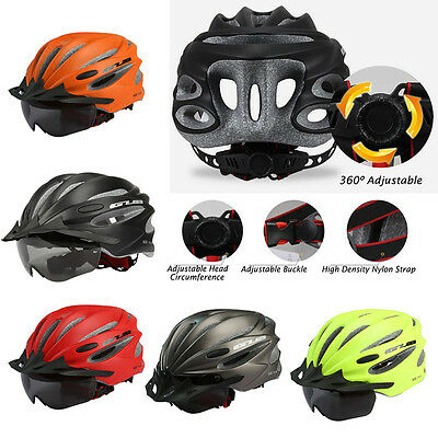 AU Mens Bicycle Cycle Helmet Mountain Sports Cycling Safety Helmets with Goggles