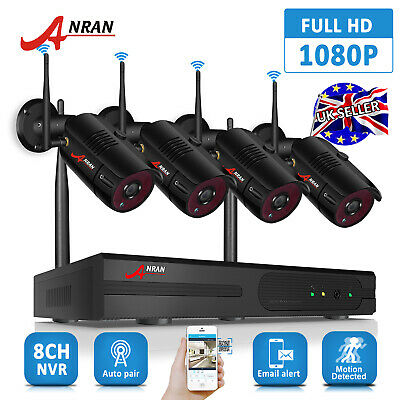 "720P 4CH Wireless CCTV System Home Security Camera 12""LCD Monitor IP WIFI IP66"