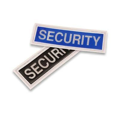 New Small reflective sew on security badge Black and Blue available
