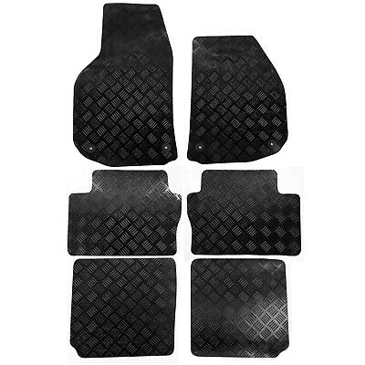 Vauxhall Zafira B Mk2 2006 - 2011 Tailored Rubber Car Mats Black 6pc Floor Set