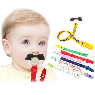 Cute Baby Boys Girls Dummy Pacifier Soother Nipple Leash Strap Chain Clip Holder