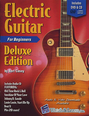 Electric Guitar for Beginners Deluxe TAB Music Book with DVD & CD Learn To Play