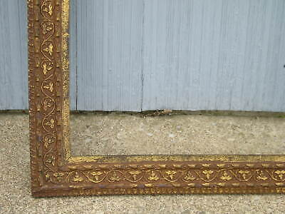 Antique Aesthetic Eastlake Victorian Aged Ornate Brick Red Picture Frame 15 x 20