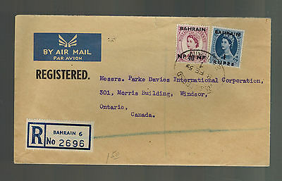1959 Bahrain airmail cover to England Registered