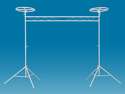 """Odyssey Cases LTMTS10HWHT 10"""" Wide Halo Mobile Lighting Truss System -Luxe White"""