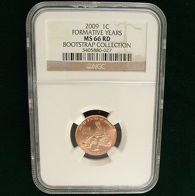 "2009 Lincoln Penny Formative Years ERROR ""Bootstrap"" NGC Certified MS66 RD"