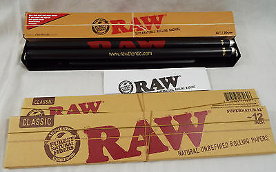 """RAW Brand 3 Piece Set Supernatural Size 12"""" Inch 30 cm 2 Papers 1 Roller  #34"""