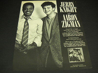 JERRY KNIGHT and AARON ZIGMAN The Jets CRUSH ON YOU 1986 Promo Poster Ad mint