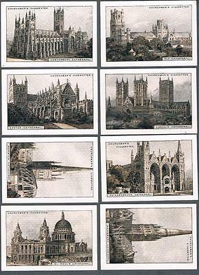 1924 Churchman Cathedrals & Churches Extra Large Tobacco Cards Complete Set