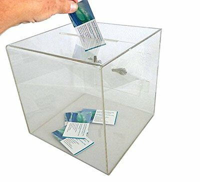 Source One X-Large Clear 12 x 12 x 12 Ballot box Donation Box with Easy Open