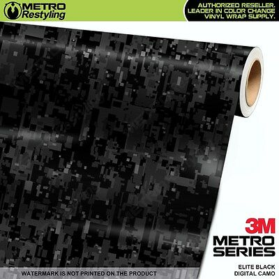 DIGITAL ELITE BLACK Camouflage Vinyl Car Wrap Camo Film Sheet Roll Adhesive