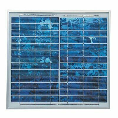 Ventamatic CXSOLARPANEL 12.6-Watt Blue High-Impact Multi-Crystal Solar Panel