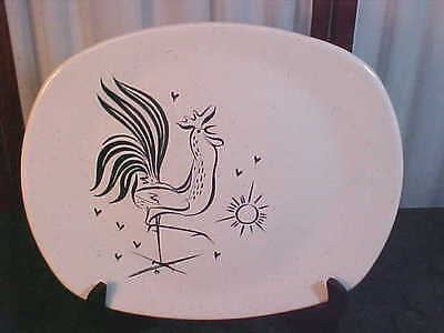 Mid-Century Harmony House Dawn Rooster Designed Square Serving Platter