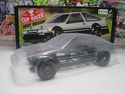 HPI True 1/10 Cup Racer Rolling Chassis W/ Toyota Corolla Levin Clear Body OZ RC