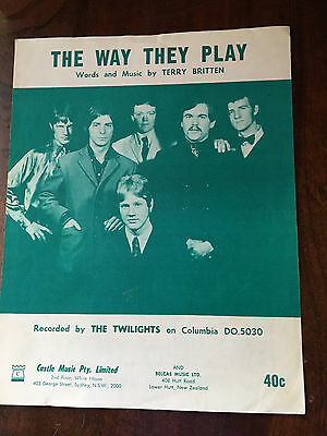 THE TWILIGHTS - The Way They Play. Australian Sheet Music
