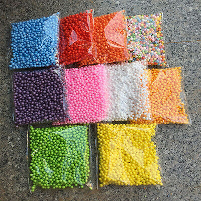 Lots Assorted Colors Crafts Polystyrene Styrofoam Filler Foam Mini Beads Balls R