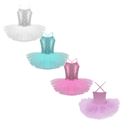 Toddler Girl Kid Ballerina Costume Skirt Ballet Dancewear Leotard Gym Tutu Dress