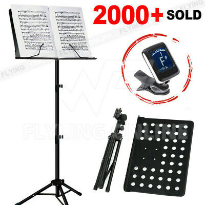 Heavy Duty Music Sheet Stand Adjustable Folding Large Professional Stage Black