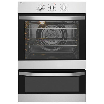 Chef 60cm 80L Double Electric Wall Oven CVE662SA