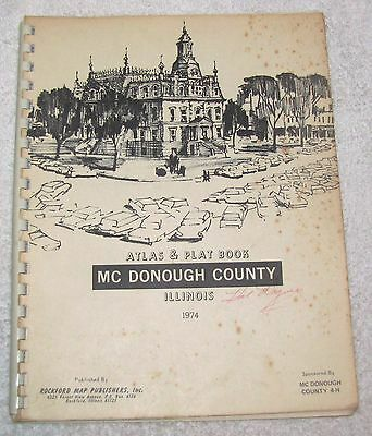 1974--McDONOUGH COUNTY, IL.--ATLAS & PLAT BOOK