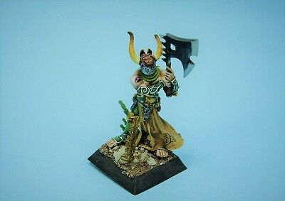 Confrontation painted miniature Drune Karnagh warrior