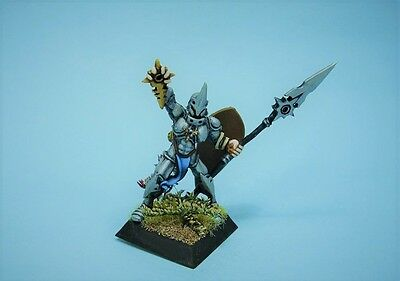 Confrontation painted miniature Griffin Warrior Priest