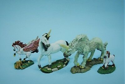 Clearance painted Ral Partha Unicorns & Pegasus (4)