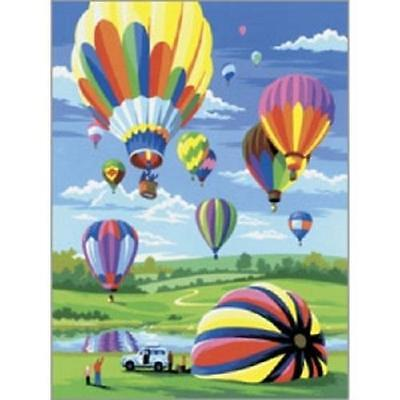 Royal & Langnickel - PJS34 - Hot Air Balloons, paint by numbers