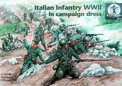WATERLOO 1815 AP040 WWII Italian Infantry in Campaign Dress Figuren in 1:72