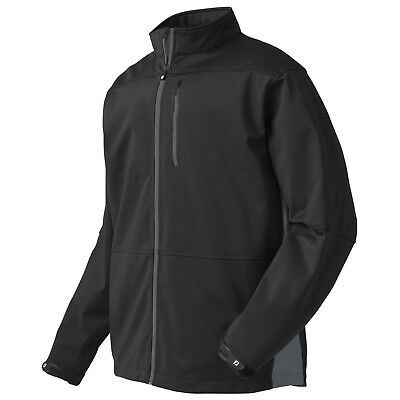 Footjoy Mens Softshell Full Zip Jacket Xl Black - New Golf Fleece Coat Top 2015