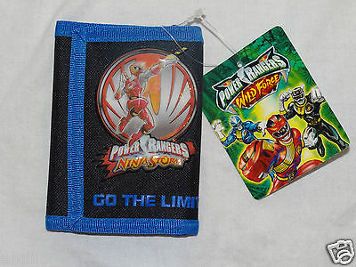 New With Tag Power Rangers Wild Force  2003 Licensed Kids Trifold  Wallet
