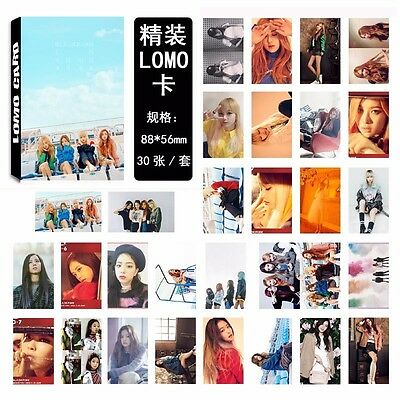 30pcs KPOP BLACKPINK Whistle LOMO CARD JISOO JENNIE Rose LISA Poster Photocard