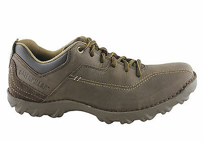 New Caterpillar Mens Movement Leather Casual Shoes (Wide Fitting)