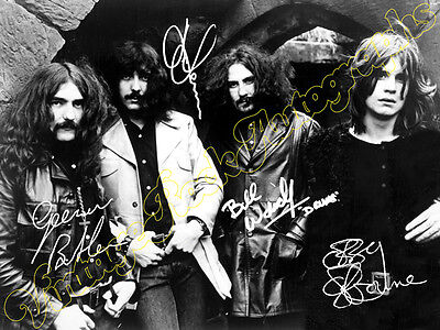 BLACK SABBATH -  print signed photo - foto con autografo stampato