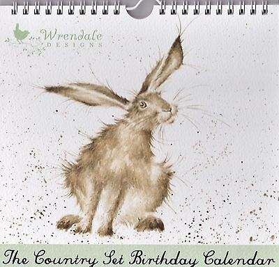 Wrendale Designs Country Set Stationary Perpetual Birthday Calendar 1 Hare