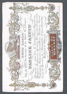 Original 1880's Petit Bazaar Mme Jaspin Cigar Shop Store Advertising Trade Card