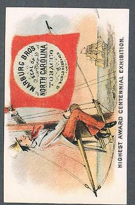 Original 1890's North Carolina Smoking Tobacco Advertising Victorian Trade Card