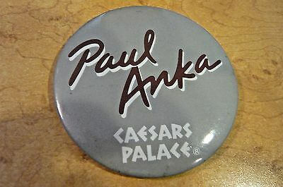 "3"" Round Paul Anka  Pin-Back-Caesars Palace"