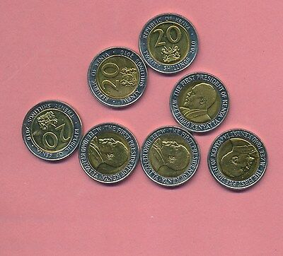 Kenya 20 Shillings Bi-Metallic Bu Lot (7)
