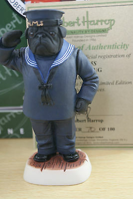 Black Pug Sailor Dpyp15S  100 Edition Robert Harrop Doggie People Mib
