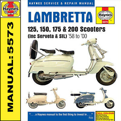 Lambretta Scooter Manual SX125 SX200 DL125 DL150 DL200 125GP 150GP 200GP H5573