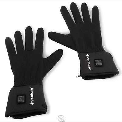 "The Heated Glove Liners Venture Heat Unisex Size Small 7-7.5"" Length Black"