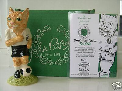 DRIBBLE FOOTBALLER CAT MODEL FF4 BESWICK FOOTBALLING FELINES mib