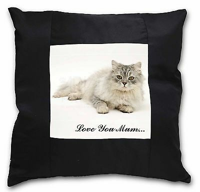 Chinchilla Persian Cat /'Love You Mum/' Soft Velvet Feel Cushion Co AC-122lym-CPW