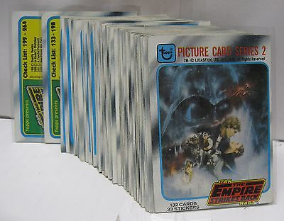 1980 Topps Star Wars Empire Strikes Back Series 2 Vintage Card Set of 132 - ESB