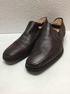 Monte Rosso Lucca Brown Nappa Leather Apron Toe Loafer Men's Size 11.5 M