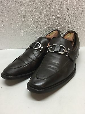 Donald J Pliner Bryc Brown Leather Bit Loafers Shoes Mens Size 9 M
