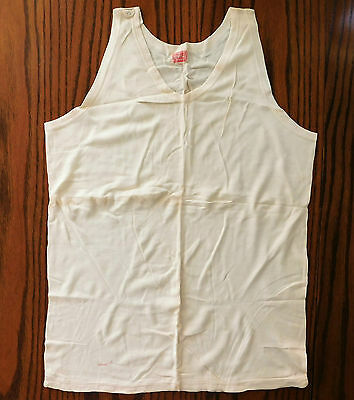 Vintage Cresset interlock vest 1920s 1930s mens underwear UNUSED shop soiled